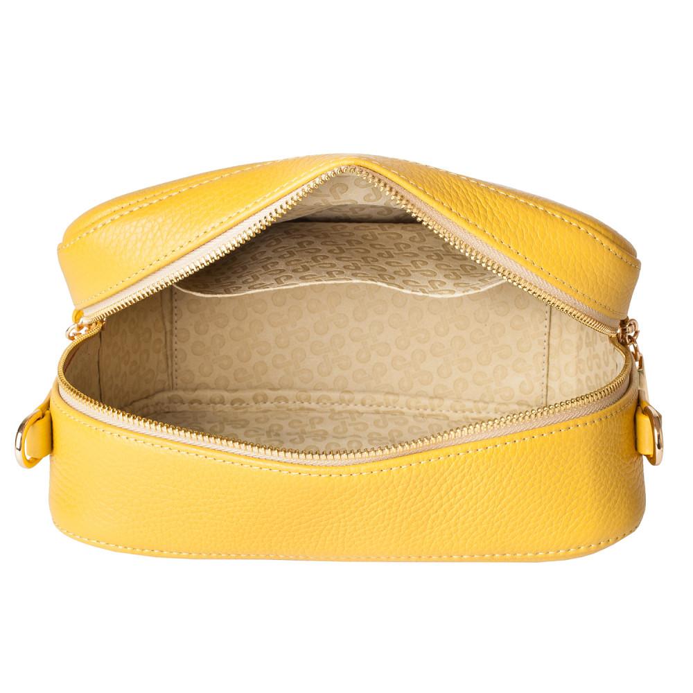 Жіноча шкіряна сумка кросс-боді на широкому ремені Tatiana M KF-3874-5