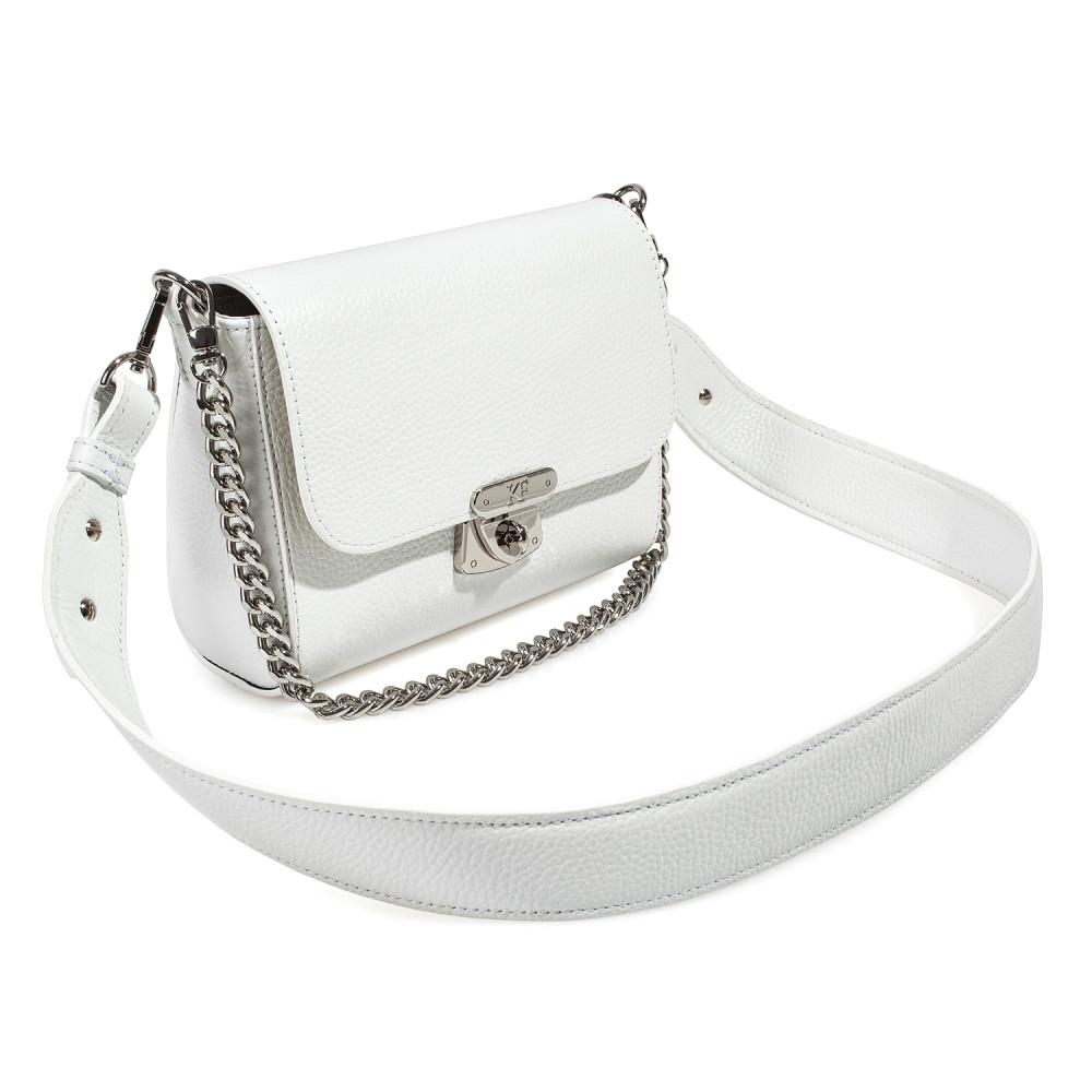 Жіноча шкіряна сумка кросс-боді на широкому ремені Prima S KF-3911-1