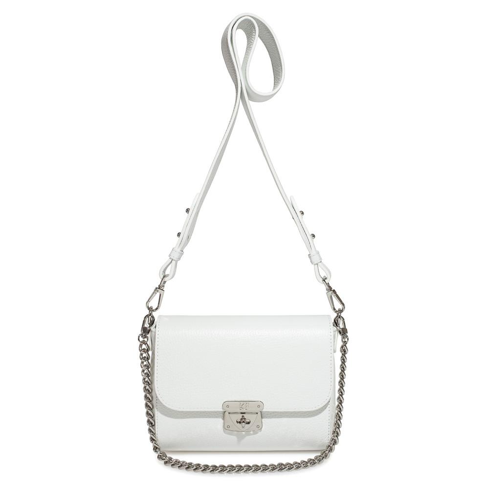 Жіноча шкіряна сумка кросс-боді на широкому ремені Prima S KF-3911-2