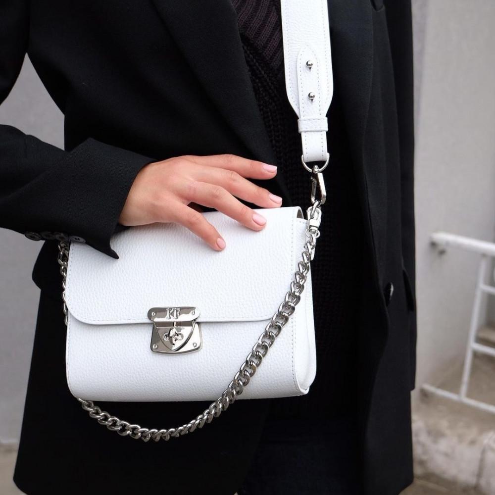 Жіноча шкіряна сумка кросс-боді на широкому ремені Prima S KF-3911-5