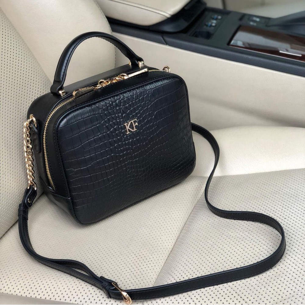 Women's leather crossbody bag Casey KF-3920