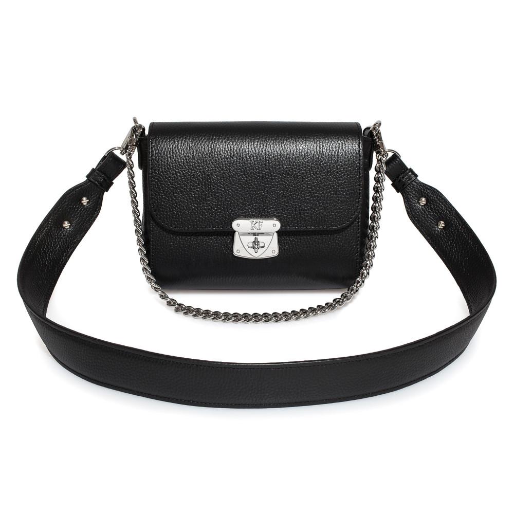 Жіноча шкіряна сумка кросс-боді на широкому ремені Prima S KF-3924