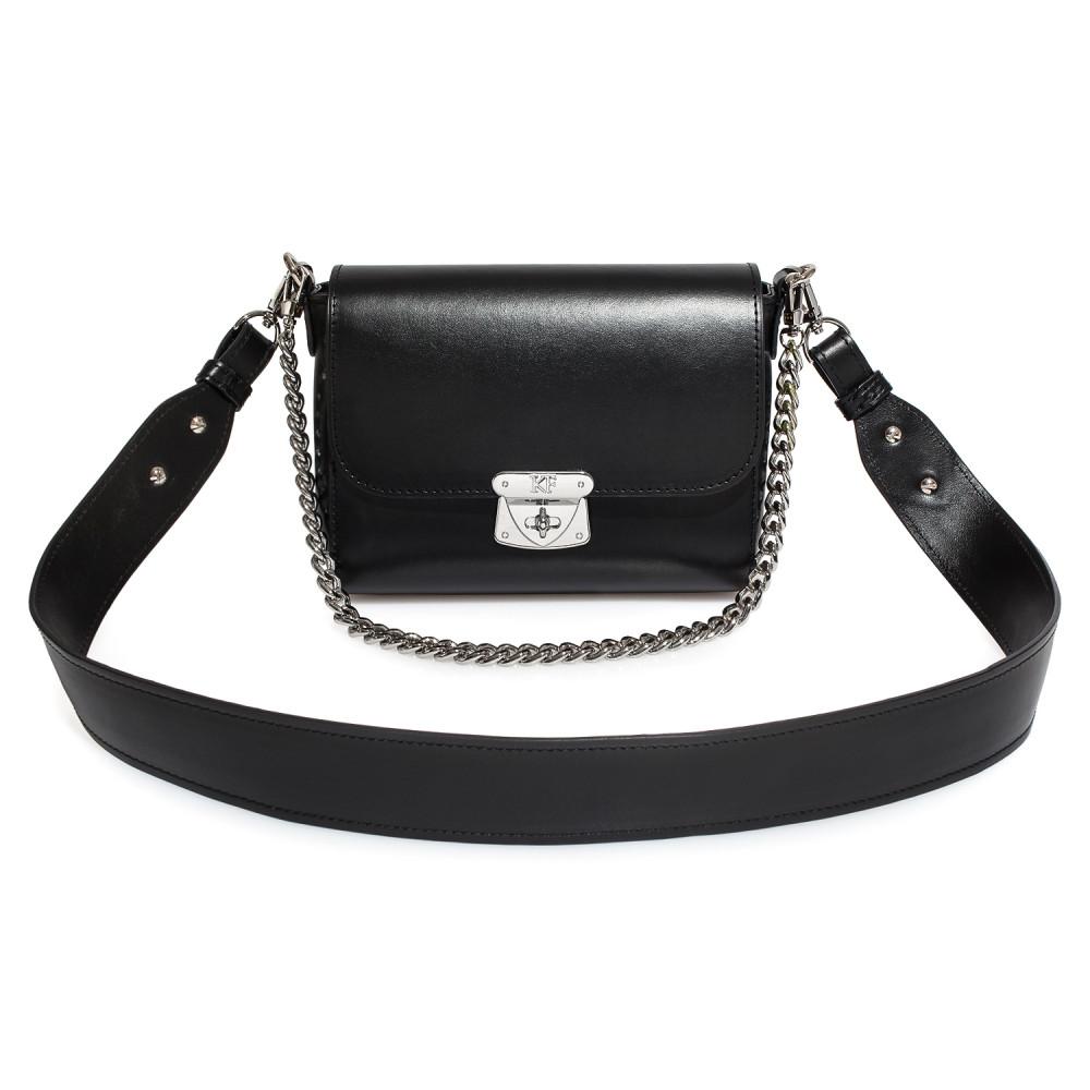 Жіноча шкіряна сумка кросс-боді на широкому ремені Prima S KF-3925