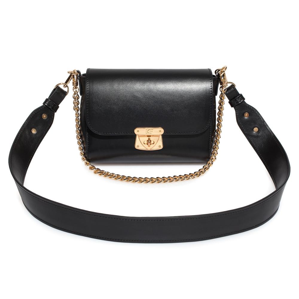 Жіноча шкіряна сумка кросс-боді на широкому ремені Prima S KF-3927