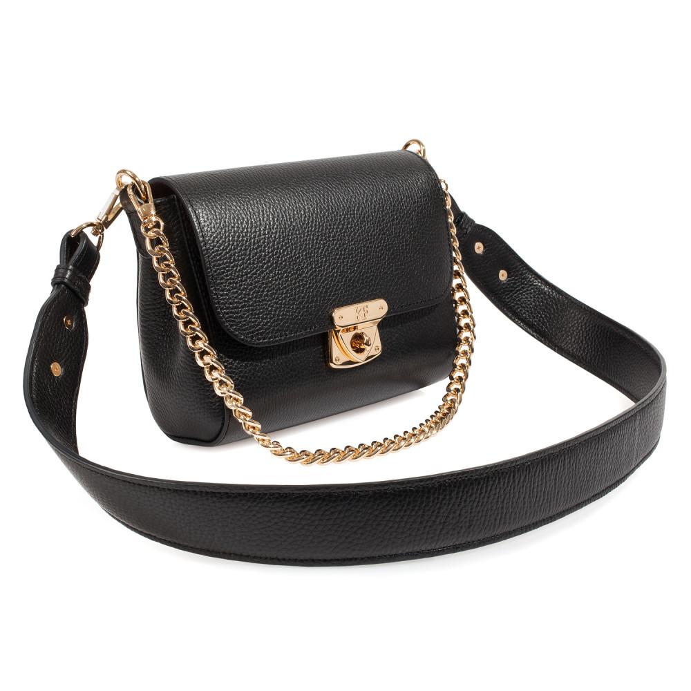 Жіноча шкіряна сумка кросс-боді на широкому ремені Prima S KF-3970
