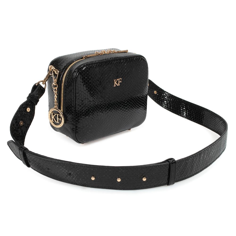 Жіноча шкіряна сумка кросс-боді на широкому ремені Tatiana KF-3974-