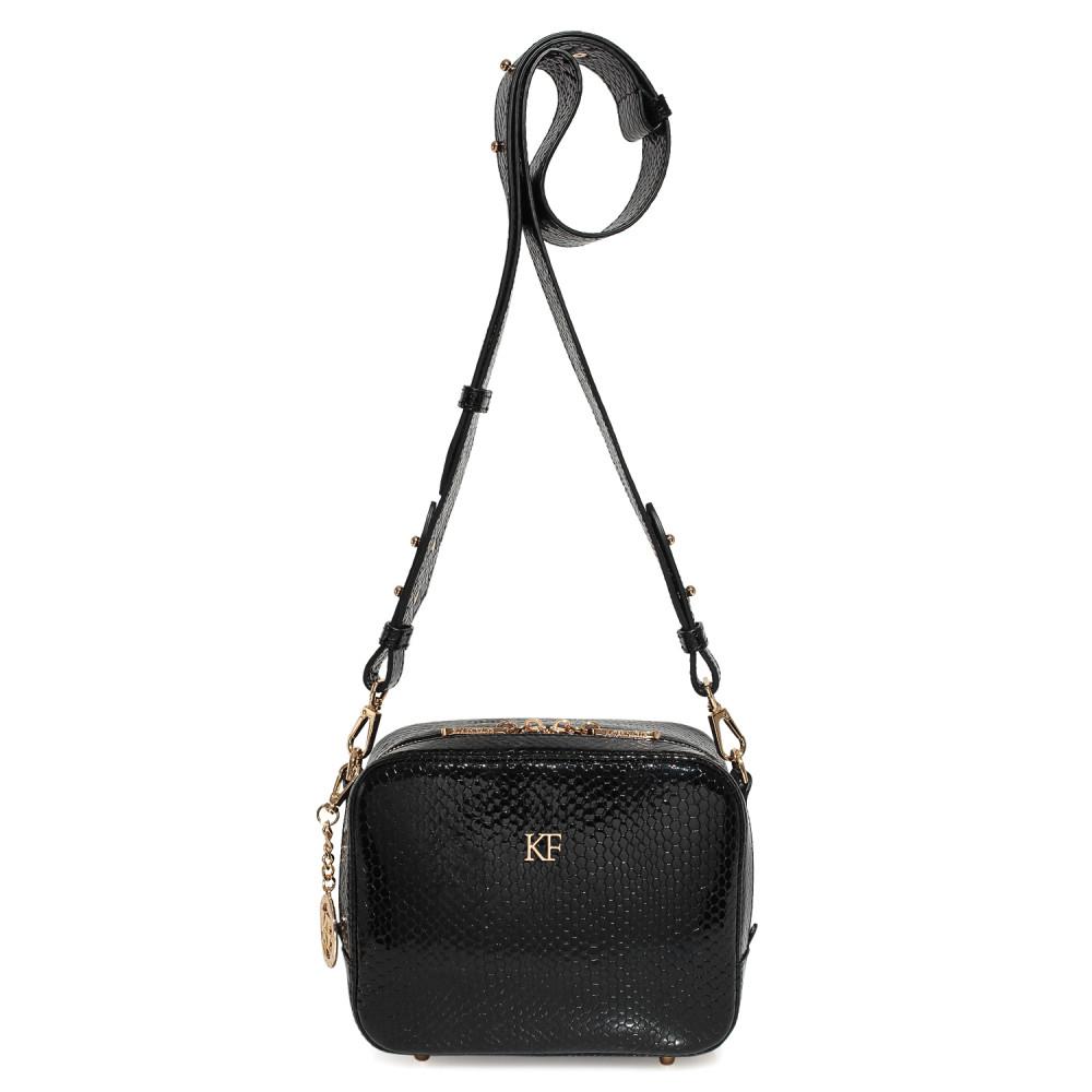 Жіноча шкіряна сумка кросс-боді на широкому ремені Tatiana KF-3974-1