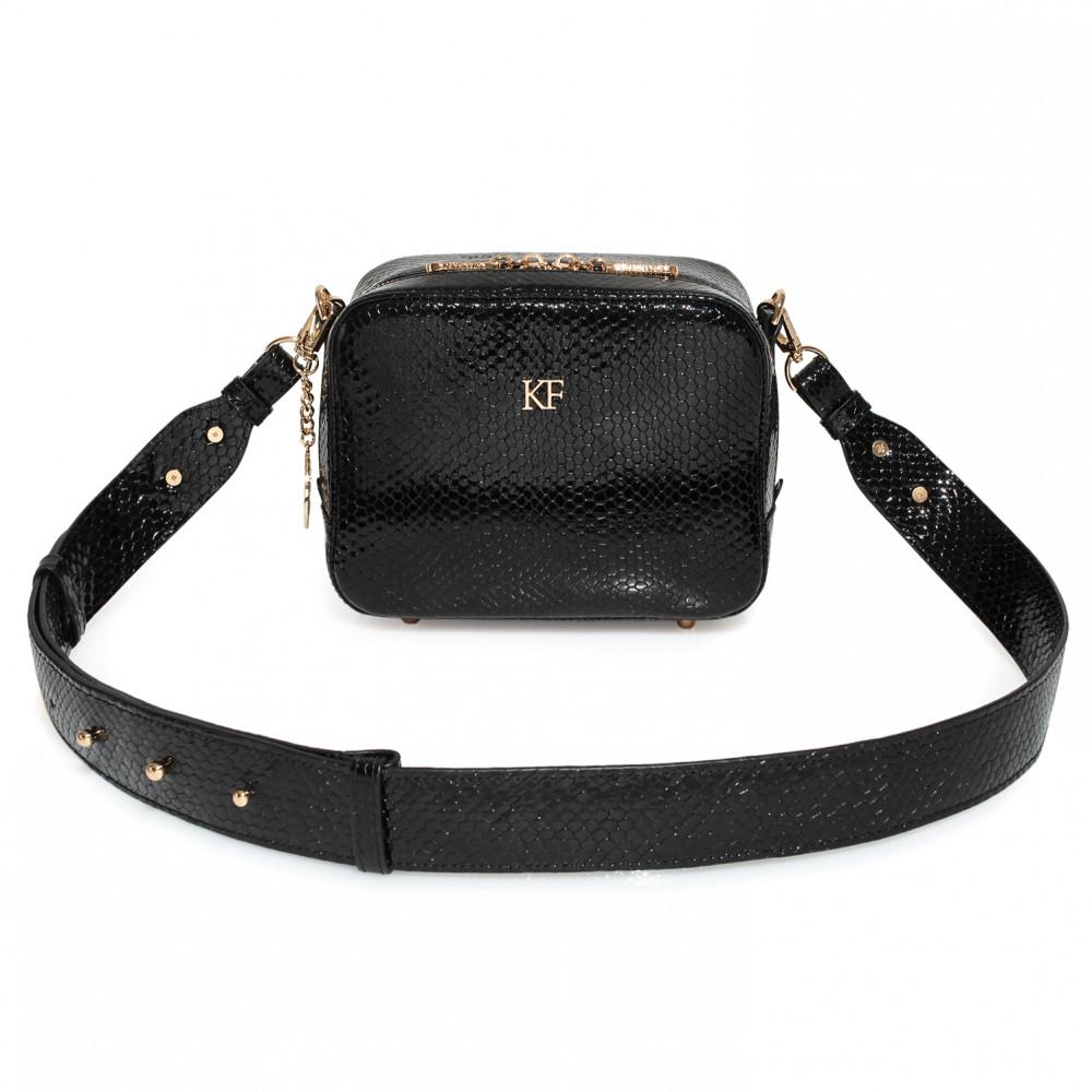 Жіноча шкіряна сумка кросс-боді на широкому ремені Tatiana KF-3974-2