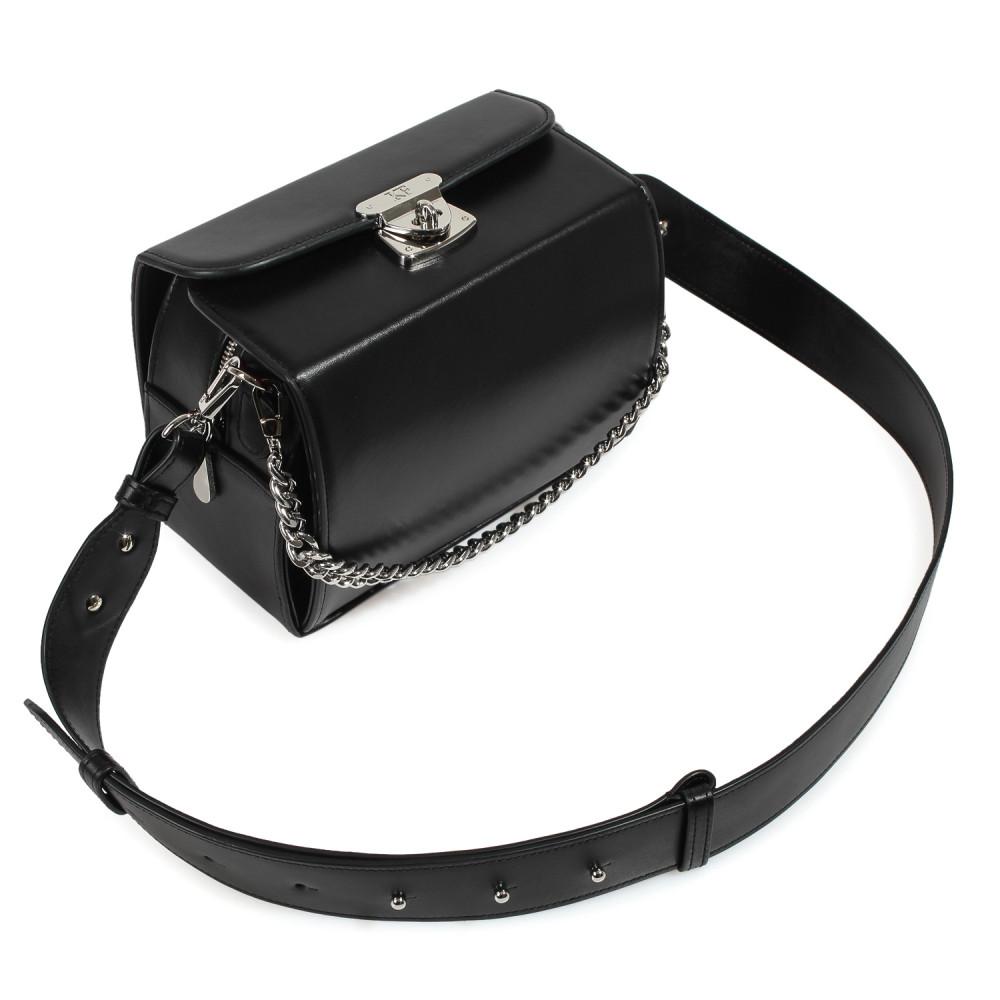 Жіноча шкіряна сумка кросс-боді на широкому ремені Angie KF-3975