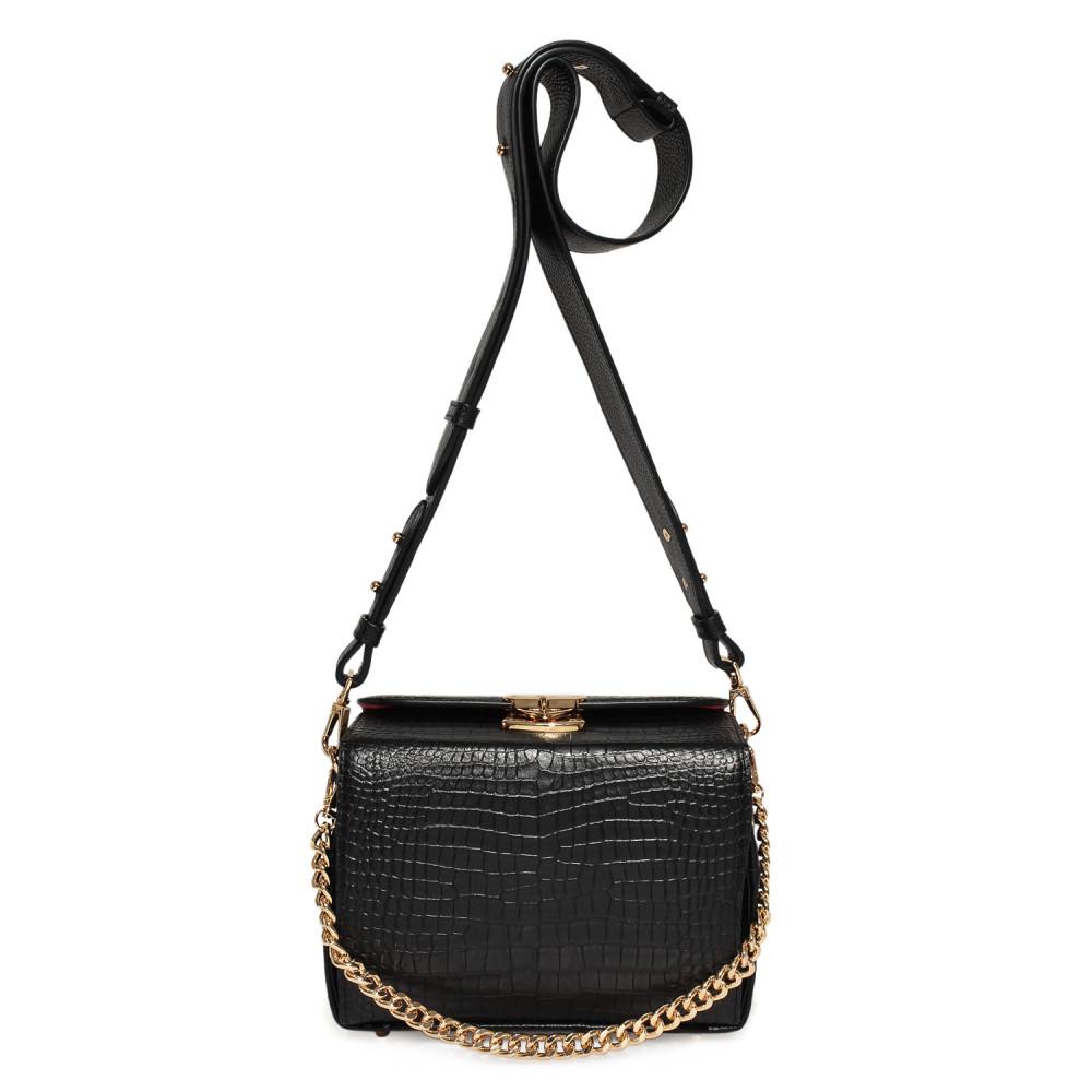 Жіноча шкіряна сумка кросс-боді на широкому ремені Angie KF-3976-2