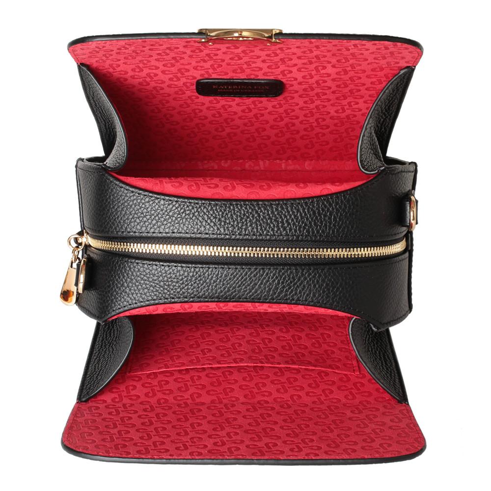 Жіноча шкіряна сумка кросс-боді на широкому ремені Angie KF-3976-3