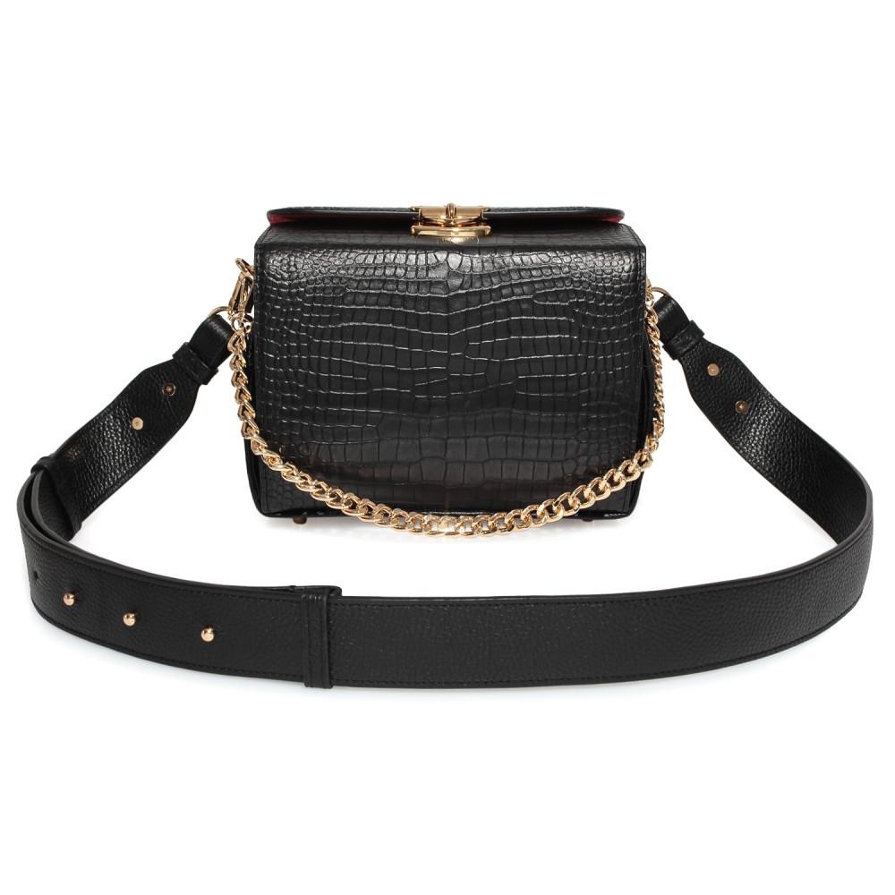 Жіноча шкіряна сумка кросс-боді на широкому ремені Angie KF-3976-4