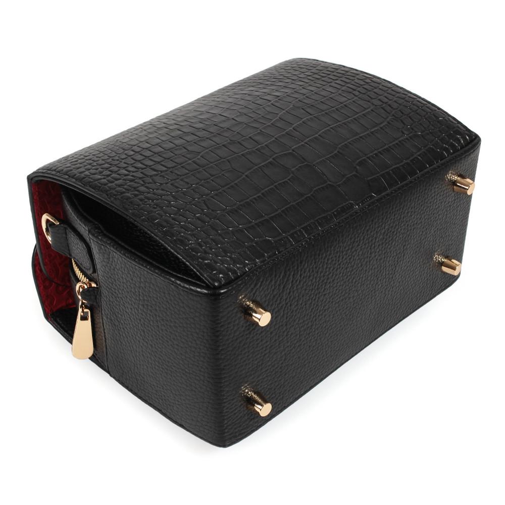Жіноча шкіряна сумка кросс-боді на широкому ремені Angie KF-3976-5