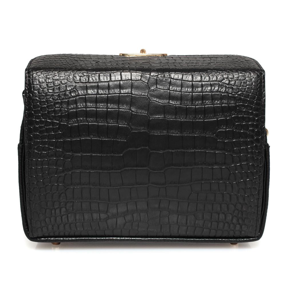 Жіноча шкіряна сумка кросс-боді на широкому ремені Angie KF-3976-6