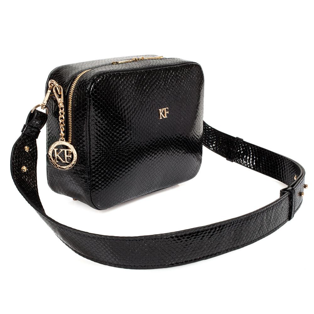 Жіноча шкіряна сумка кросс-боді на широкому ремені Tatiana M KF-3987-1