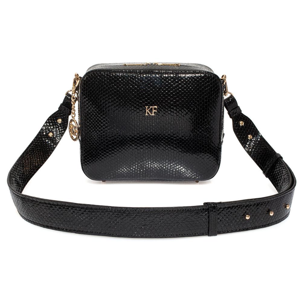Жіноча шкіряна сумка кросс-боді на широкому ремені Tatiana M KF-3987