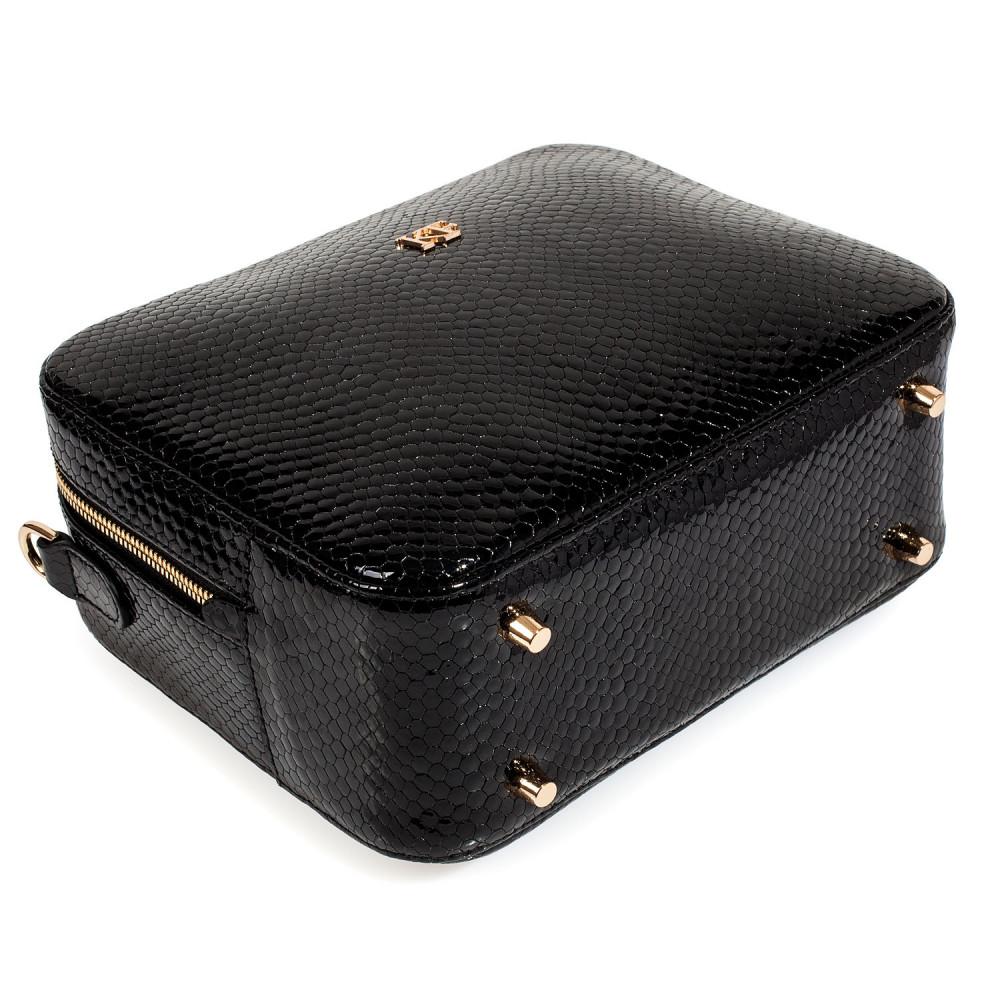 Жіноча шкіряна сумка кросс-боді на широкому ремені Tatiana M KF-3987-4