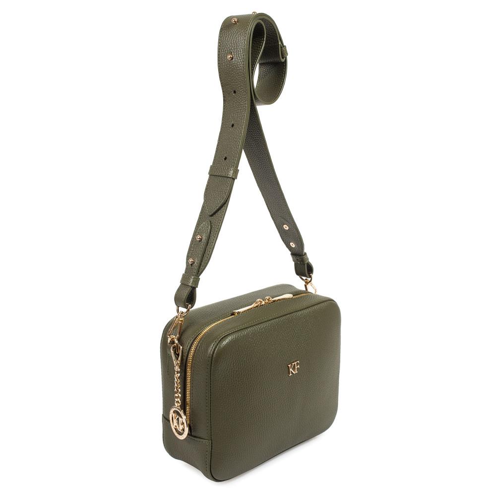 Жіноча шкіряна сумка кросс-боді на широкому ремені Tatiana M KF-4013