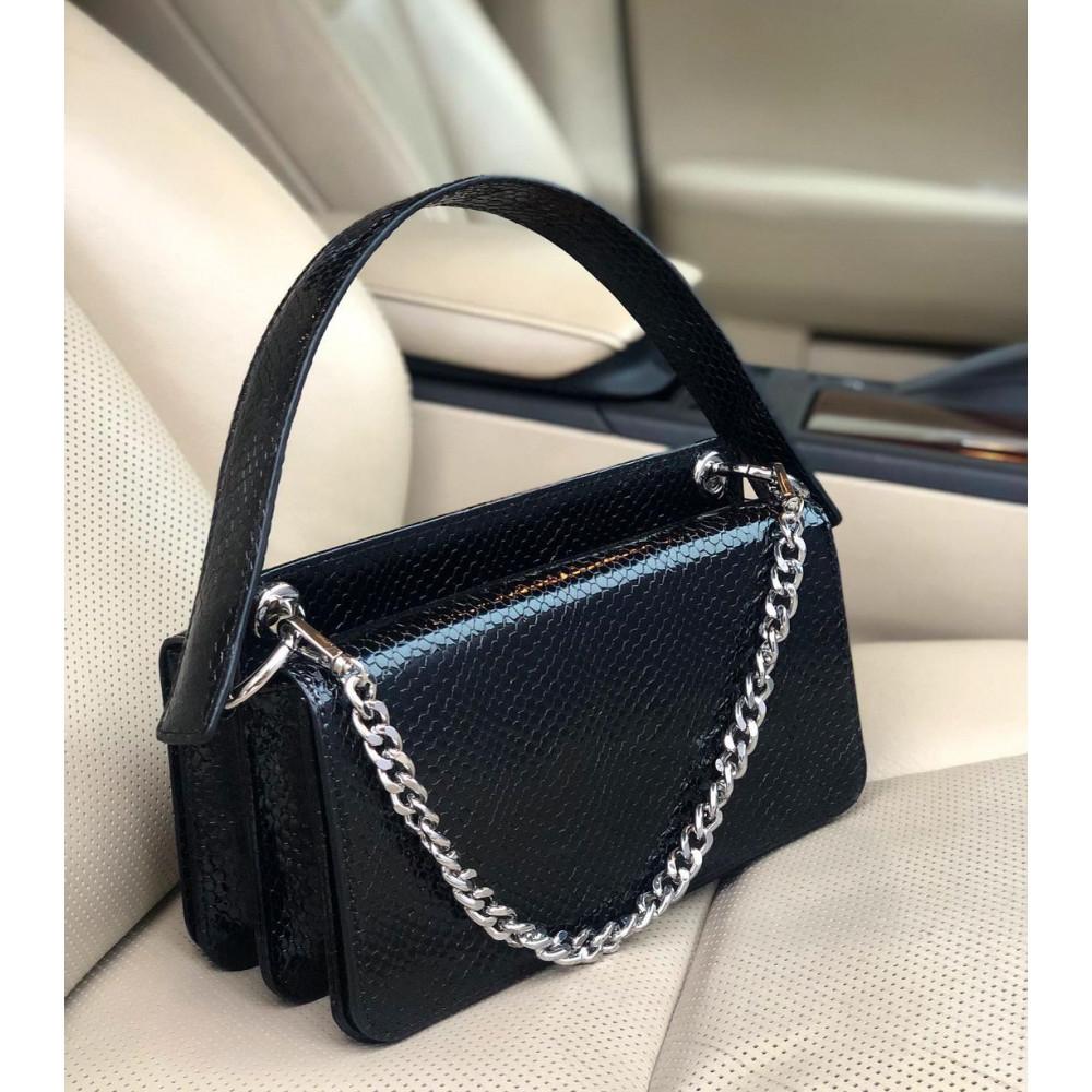 Жіноча шкіряна сумка-багет Baguette KF-4024-5