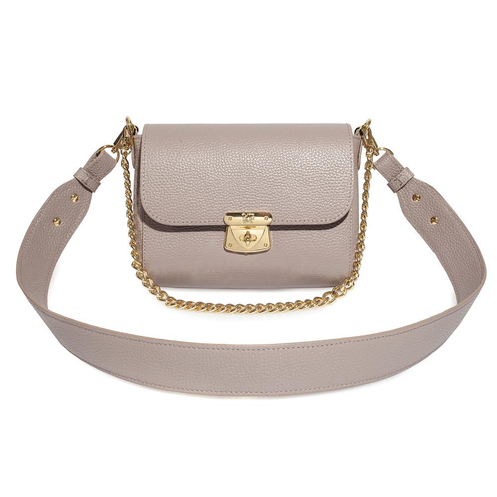 Жіноча шкіряна сумка кросс-боді на широкому ремені Prima S KF-4052-