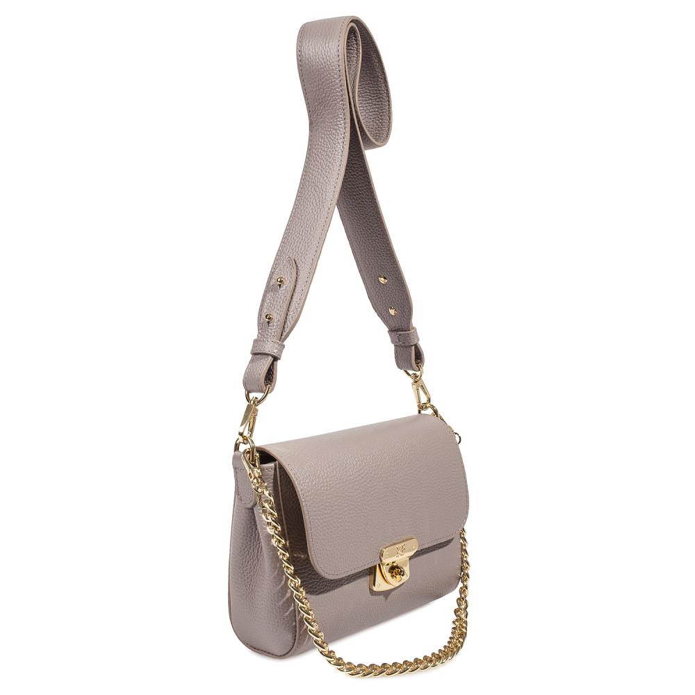 Жіноча шкіряна сумка кросс-боді на широкому ремені Prima S KF-4052-1