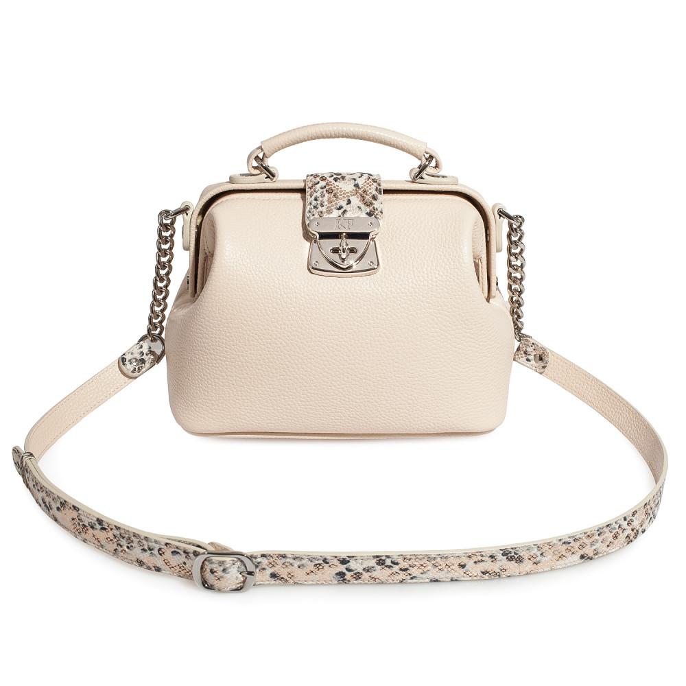 Women's leather doctor bag Diana KF-4178