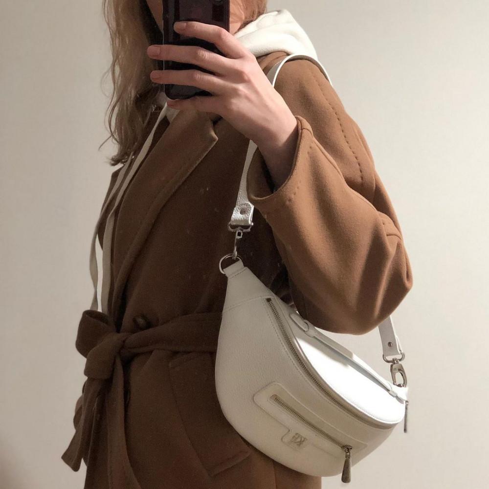 Жіноча шкіряна сумка бананка Bananka L KF-4202-11