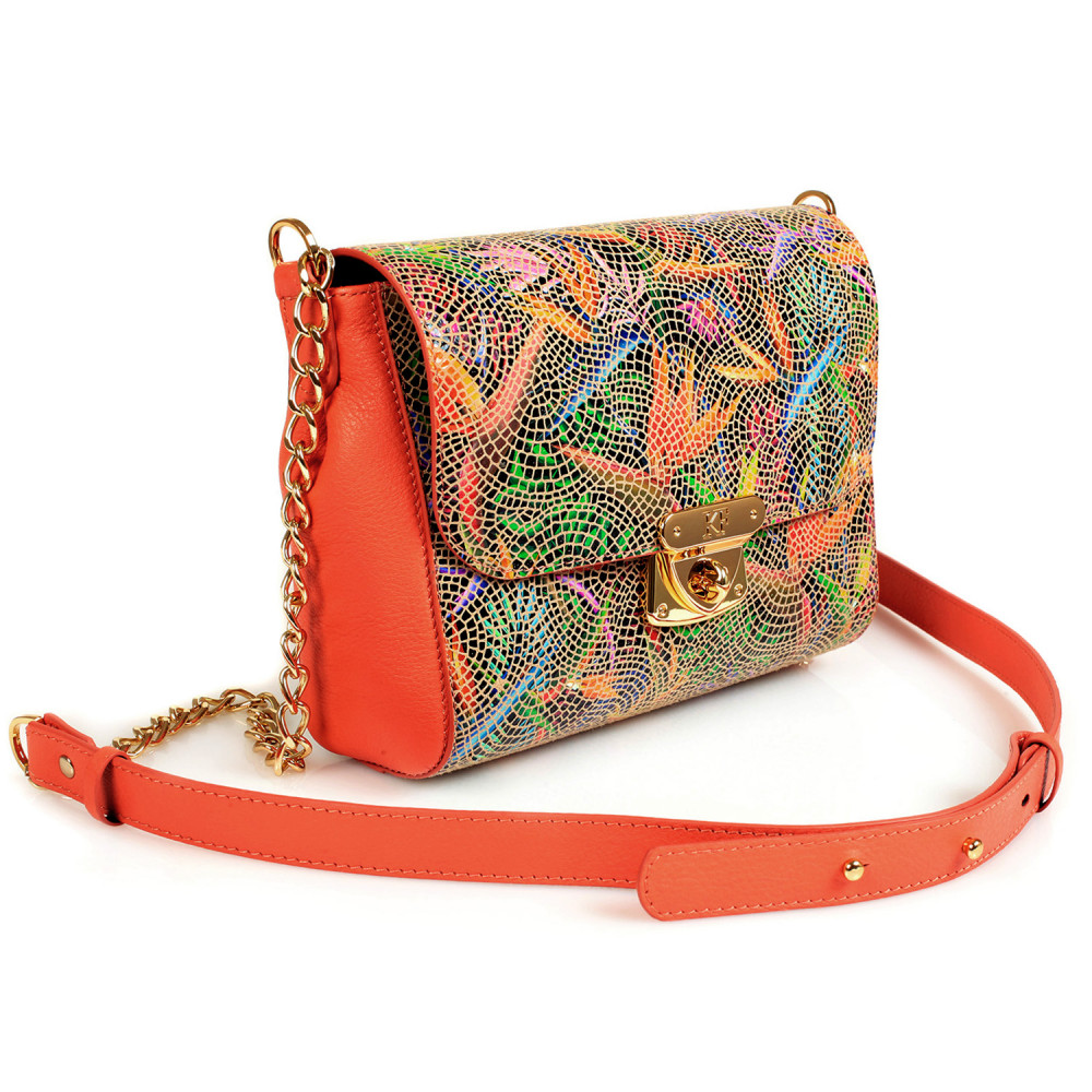Women's leather bag on a chain Prima S KF-428-1
