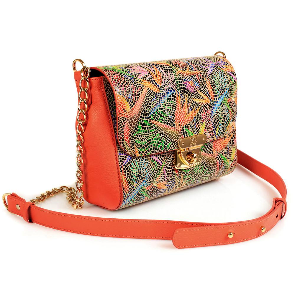 Жіноча шкіряна сумка на ланцюжку Prima S KF-428-1