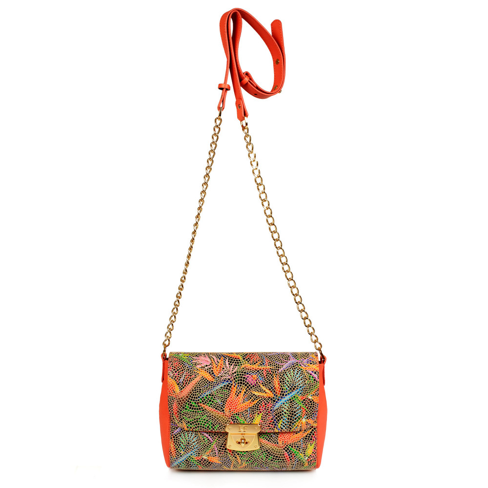 Women's leather bag on a chain Prima S KF-428-2