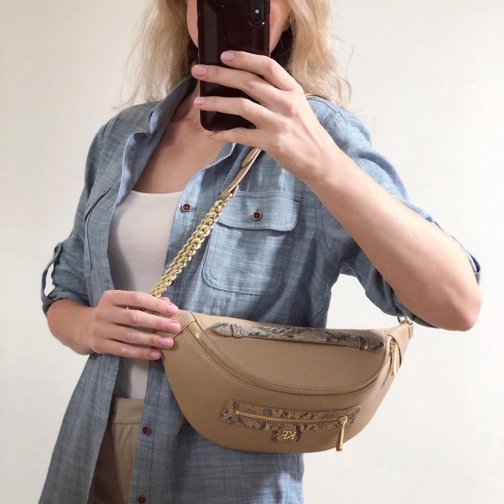 Жіноча шкіряна сумка бананка Bananka L KF-4402-6