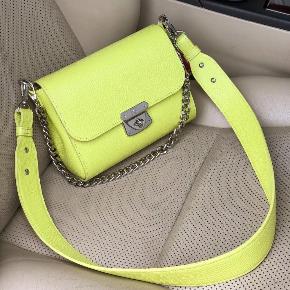 Жіноча шкіряна сумка кросс-боді на широкому ремені Prima S KF-4331-