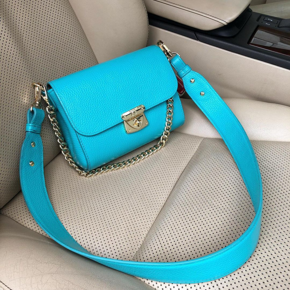 Жіноча шкіряна сумка кросс-боді на широкому ремені Prima S KF-4332-