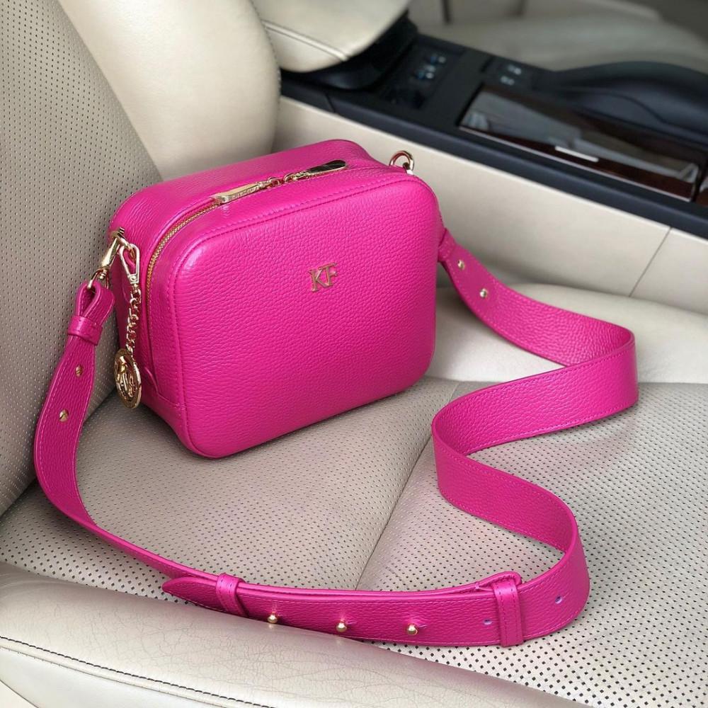 Women's leather crossbody bag on a wide strap Tatiana KF-4355