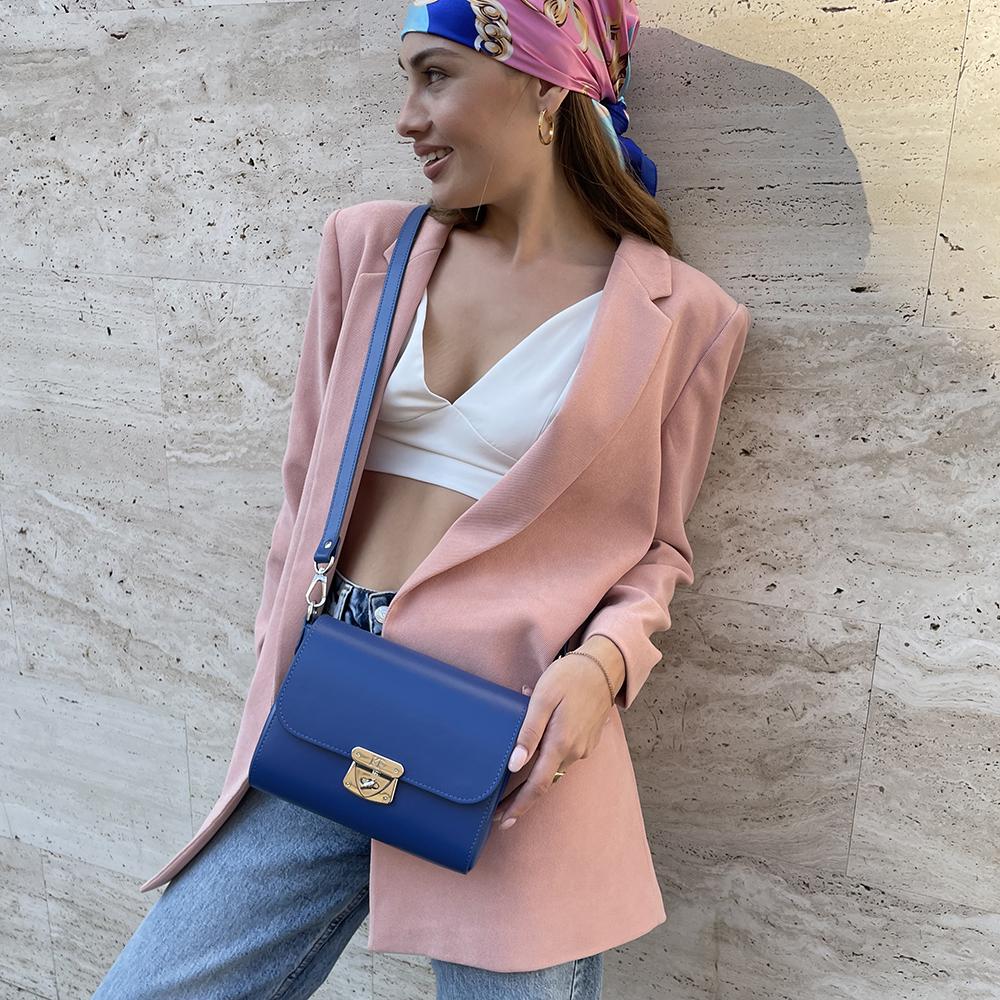 Жіноча шкіряна сумка кросс-боді Prima S KF-4423-5