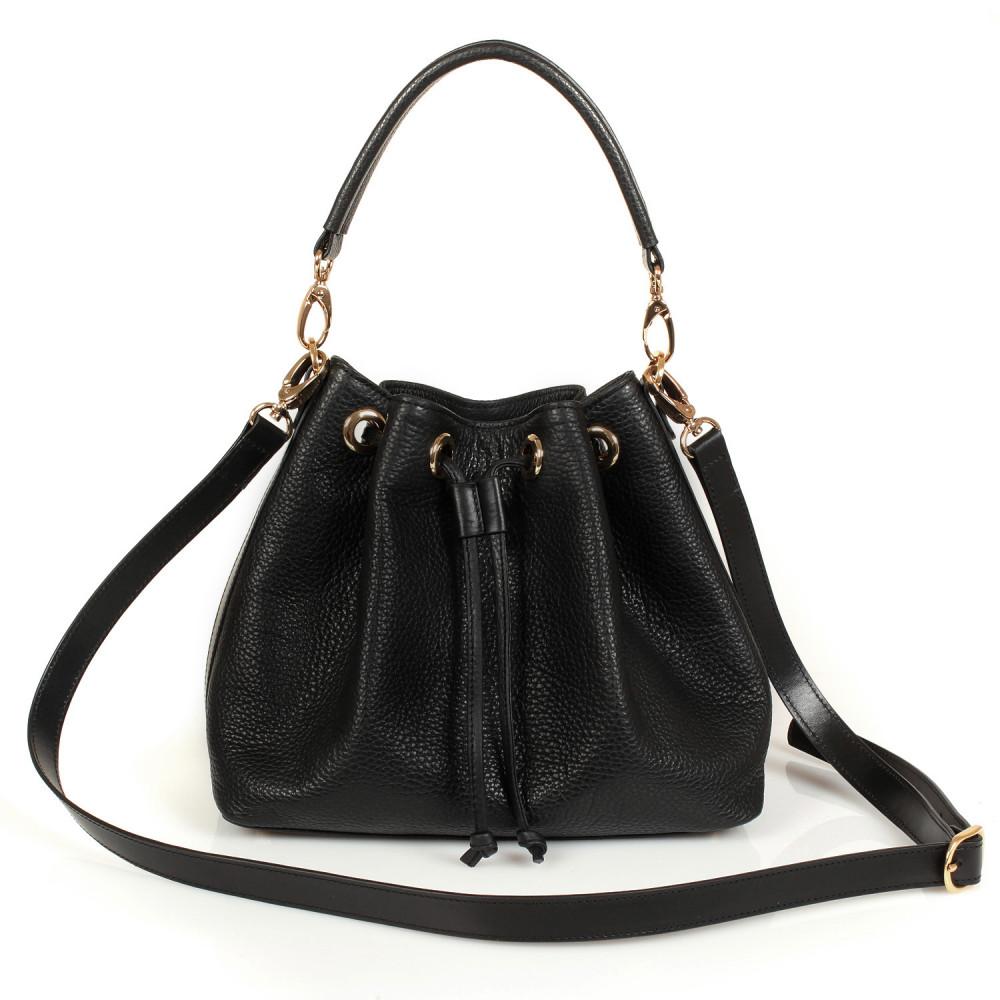 Жіноча шкіряна сумка-мішок Хобо Sonya KF-447-