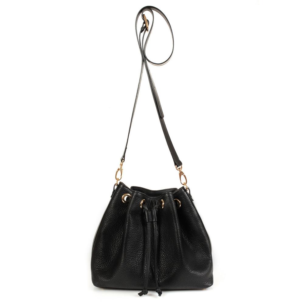 Жіноча шкіряна сумка-мішок Хобо Sonya KF-447-2