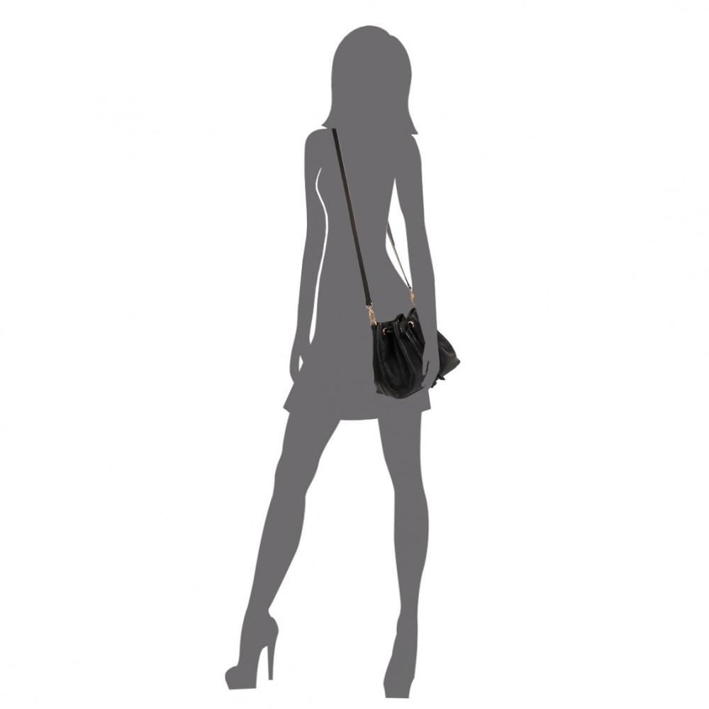 Жіноча шкіряна сумка-мішок Хобо Sonya KF-447-6