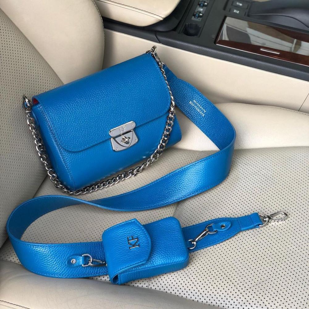 Жіноча шкіряна сумка кросс-боді на широкому ремені Prima Ann KF-4580