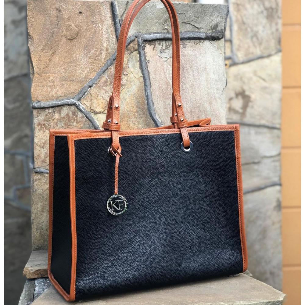 Жіноча шкіряна сумка Shopper KF-4583