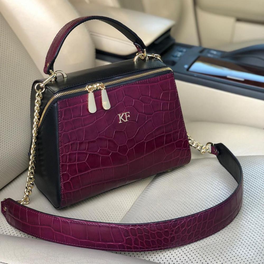 Жіноча шкіряна сумка Elegance KF-4585