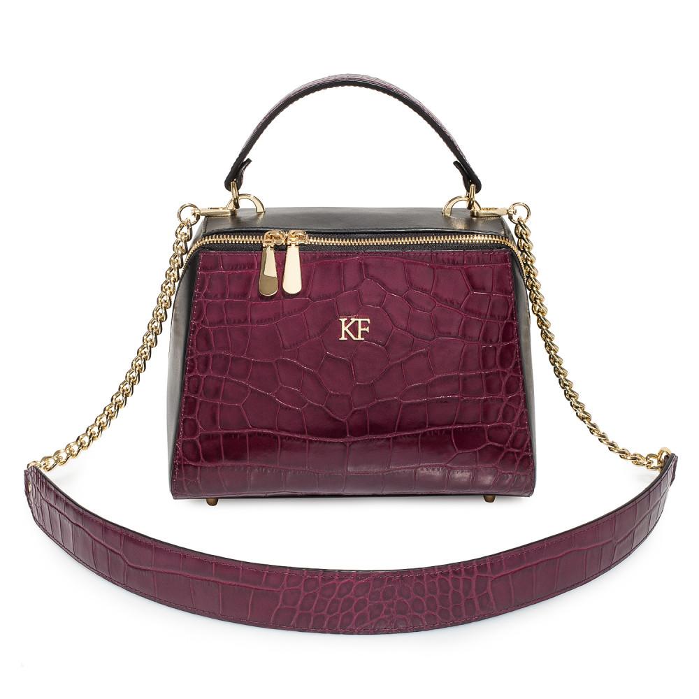Жіноча шкіряна сумка Elegance KF-4585-1