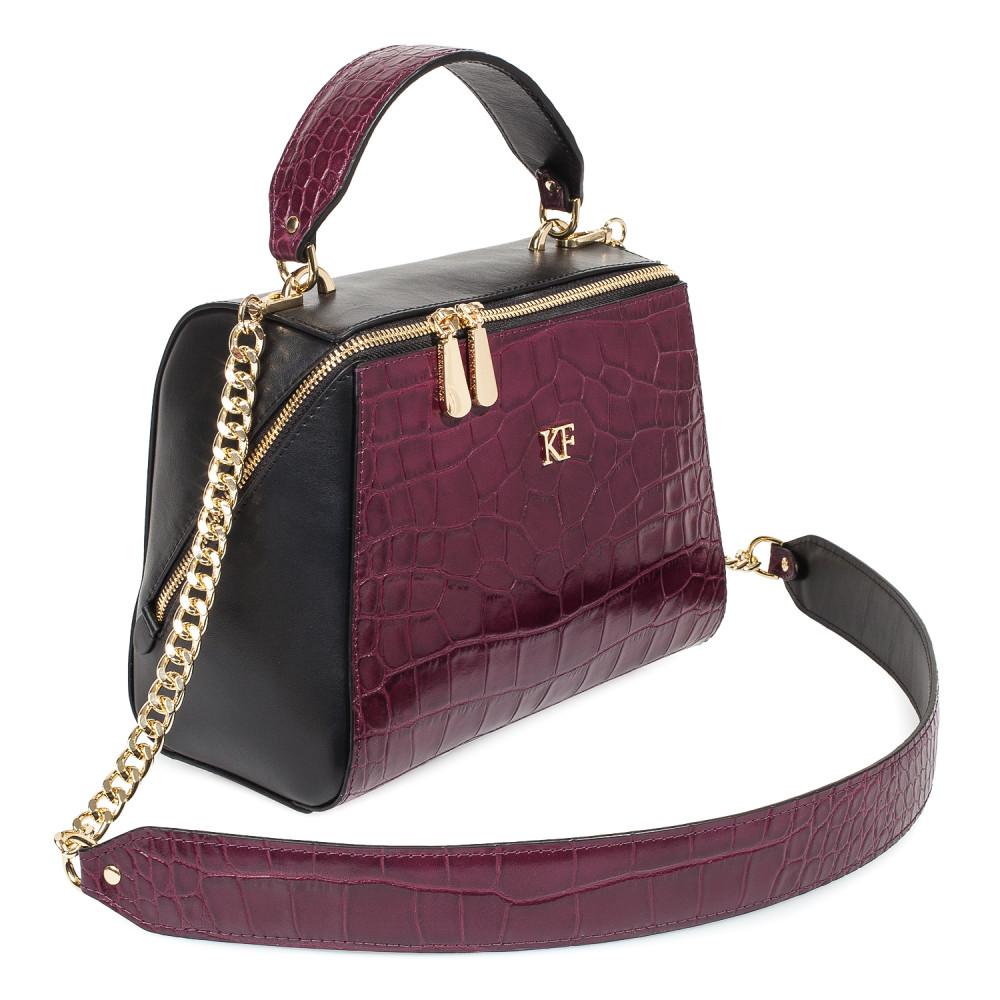 Жіноча шкіряна сумка Elegance KF-4585-2