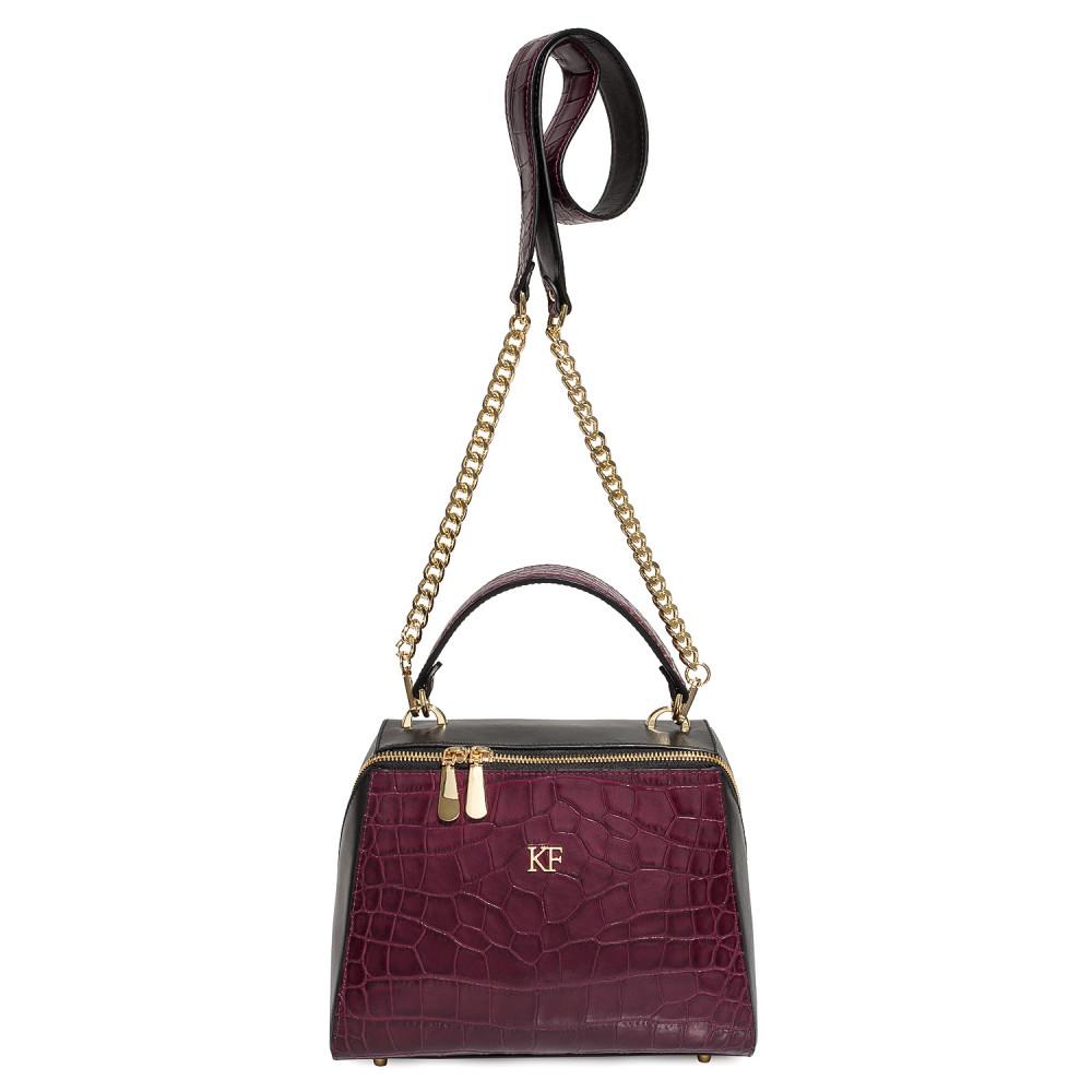 Жіноча шкіряна сумка Elegance KF-4585-3