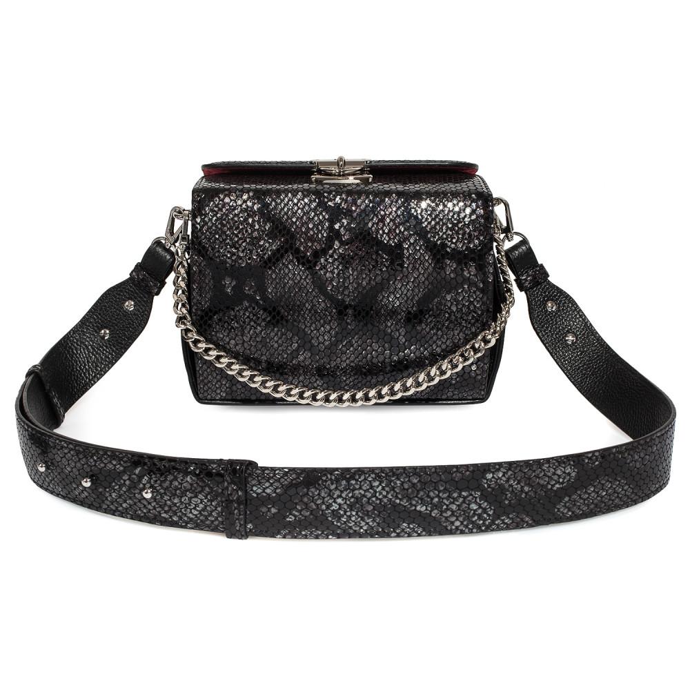 Жіноча шкіряна сумка кросс-боді на широкому ремені Angie KF-4609-1