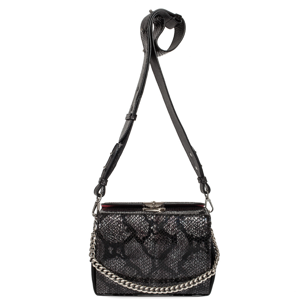 Жіноча шкіряна сумка кросс-боді на широкому ремені Angie KF-4609-2
