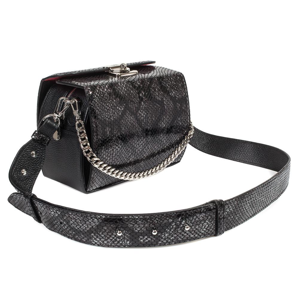Жіноча шкіряна сумка кросс-боді на широкому ремені Angie KF-4609-3