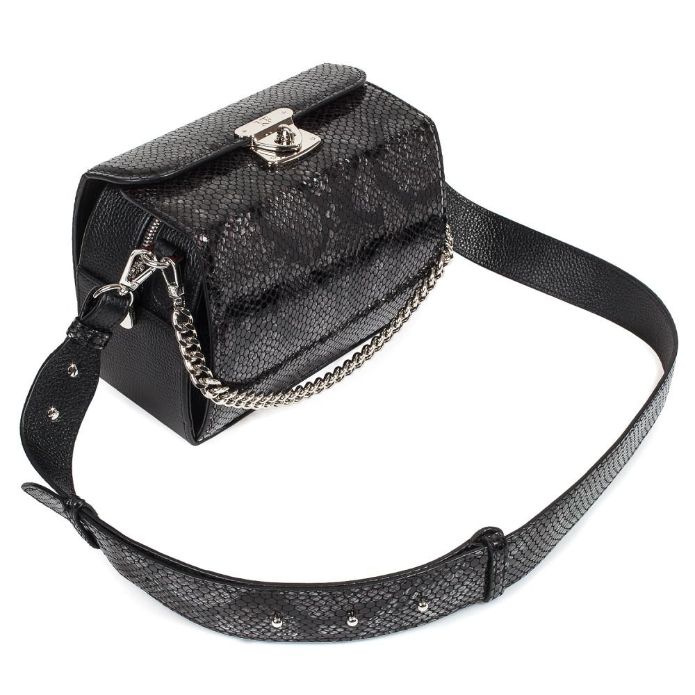Жіноча шкіряна сумка кросс-боді на широкому ремені Angie KF-4609-4