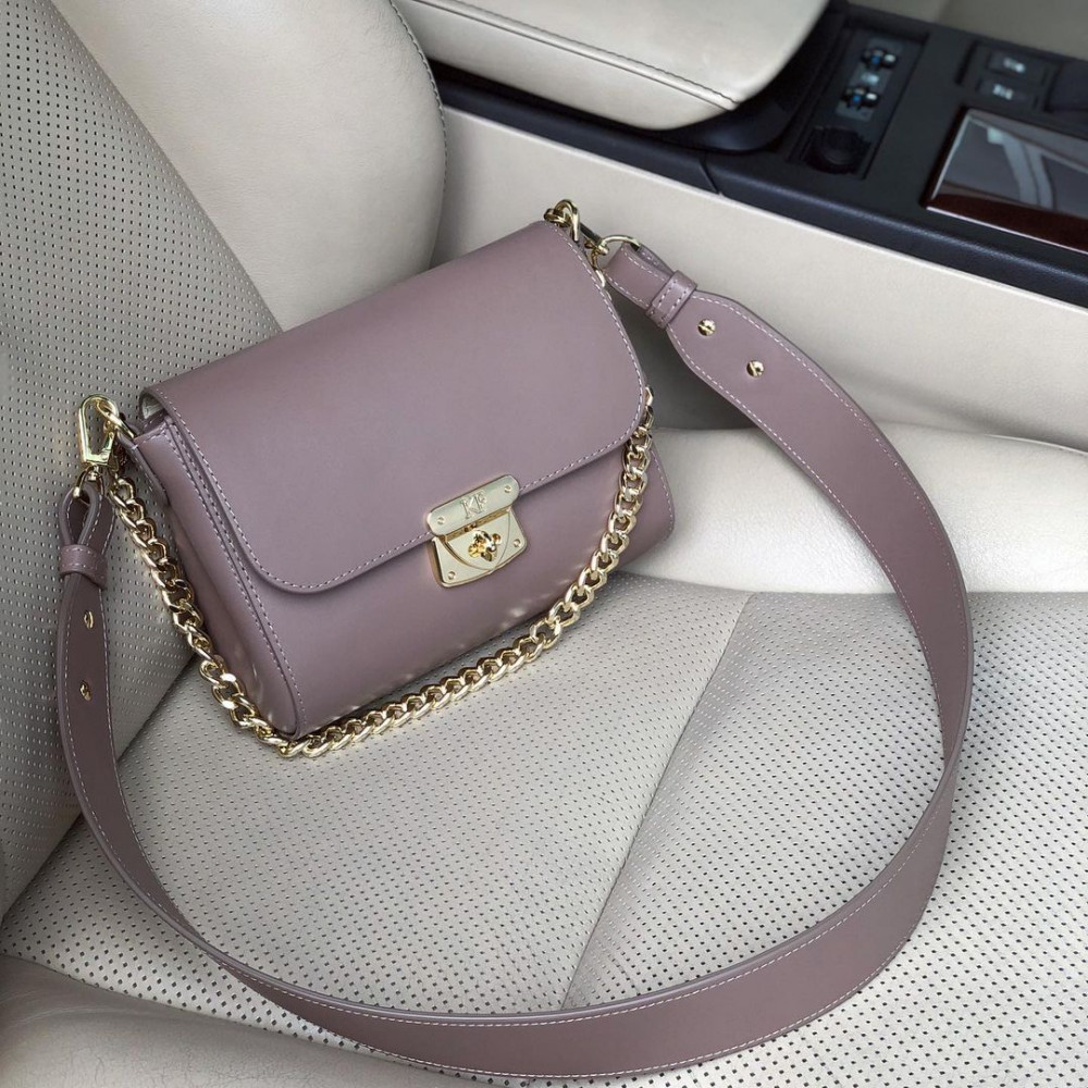 Women's leather crossbody bag on a wide strap on a wide strap Prima S KF-4622
