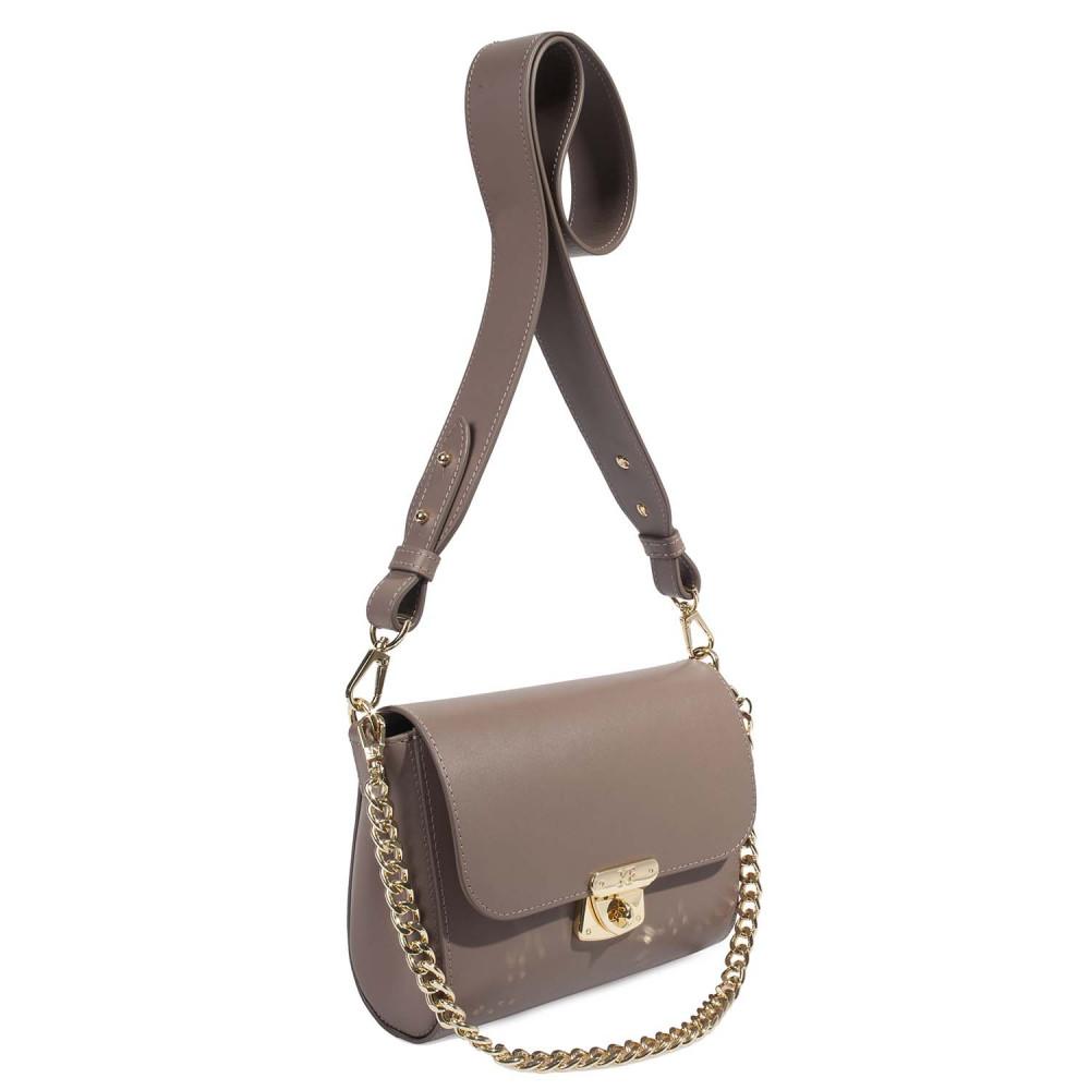 Жіноча шкіряна сумка кросс-боді на широкому ремені Prima S KF-4622-2